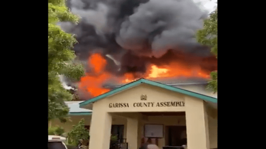 Fire razes down Garissa County Assembly