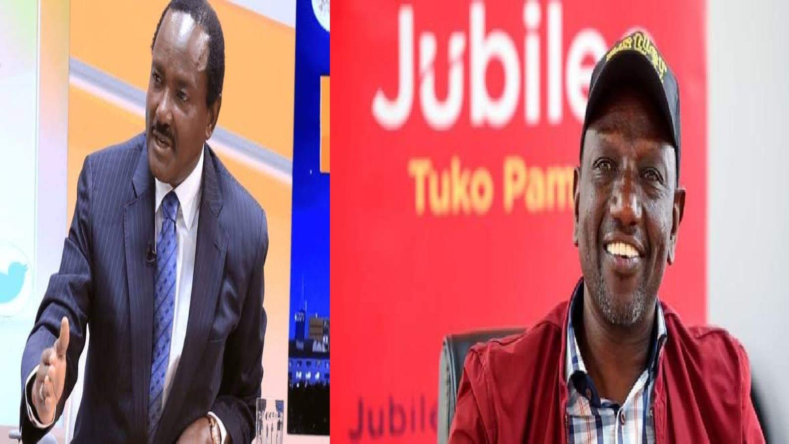 Wiper Leader Kalonzo Musyoka and DP Ruto.