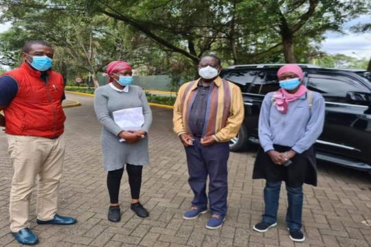 Raila Odinga and Benjamin Ayimba's family.