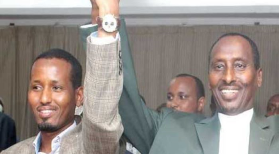 Wajir Deputy governor Ahmed Ali Muktar and governor Muhamud.
